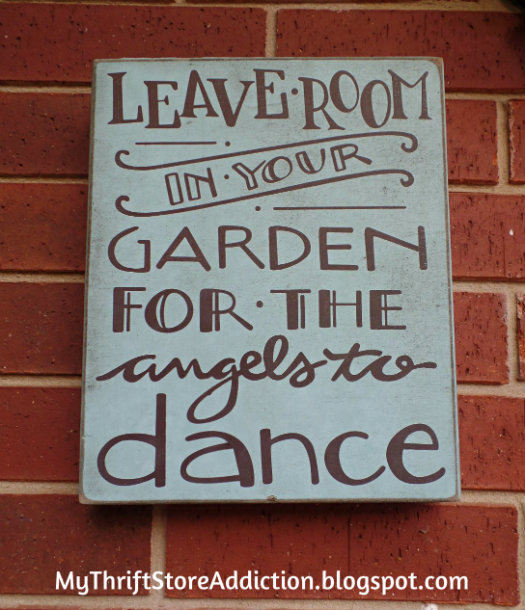 Whimsical garden sign