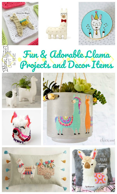 Fun and Adorable Llama Projects and Decor Items