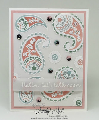 Paisley & Posies, Stampin' Up!, created by Sandy Mott - The Scrap N' Stamp Shop
