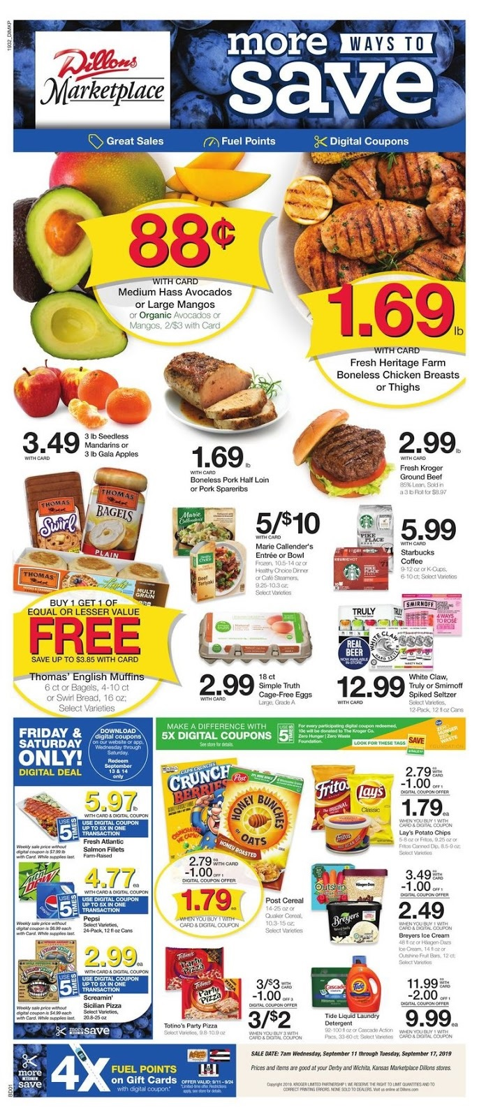 ⭐ Dillons Ad 9/18/19