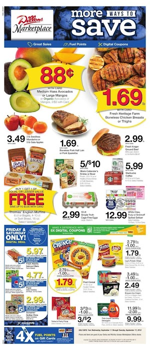 Dillons Ad Preview September 18 - 24, 2019