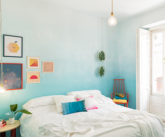parede ombre, parede colorida, parede pintada, pintar parede, decorar parede, a casa eh sua, acasaehsua, decor, decoração, home decor