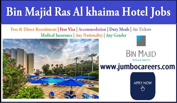 Hotel Bin Majid RAK Latest Free Recruitment Jobs with Visa UAE