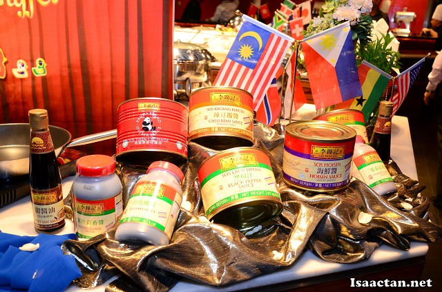 The various sauces from Lee Kum Kee on display