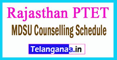 Rajasthan PTET Counselling