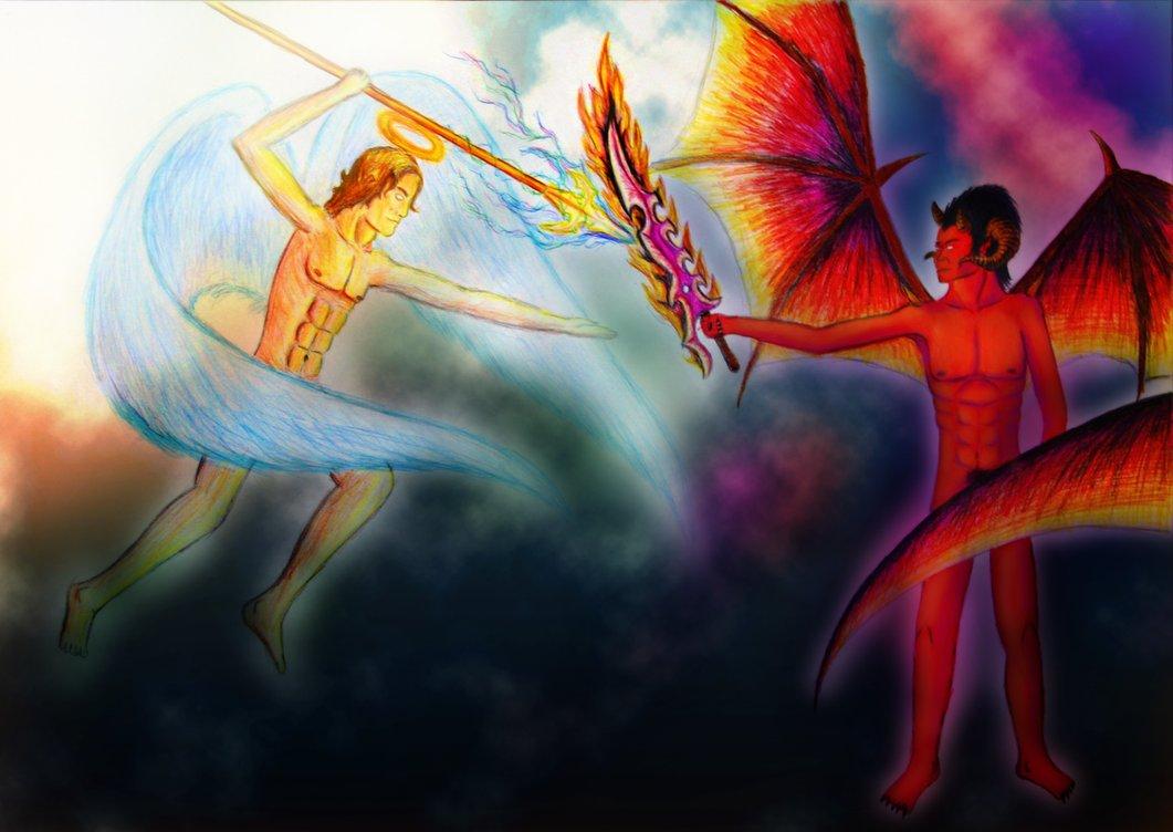 angel vs devil - HD1280×907