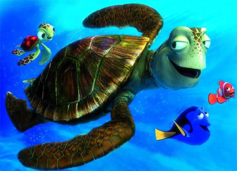Finding Nemo Disney Walt Disney Movies Fish Animation: 9 Finding Nemo The Turtles Characters Wallpaper