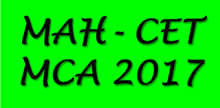 MAH-CET-MCA 2017 Entrance Exam for Masters of Computer Applications