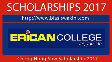 Chong Hong Sow Scholarship 2017