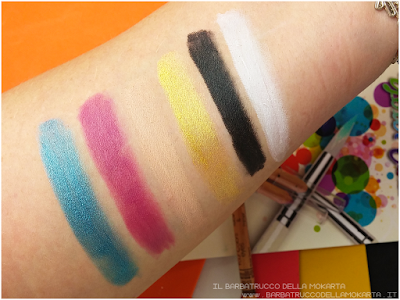 swatches makeup vegan Miss trucco matite Your Color eyes