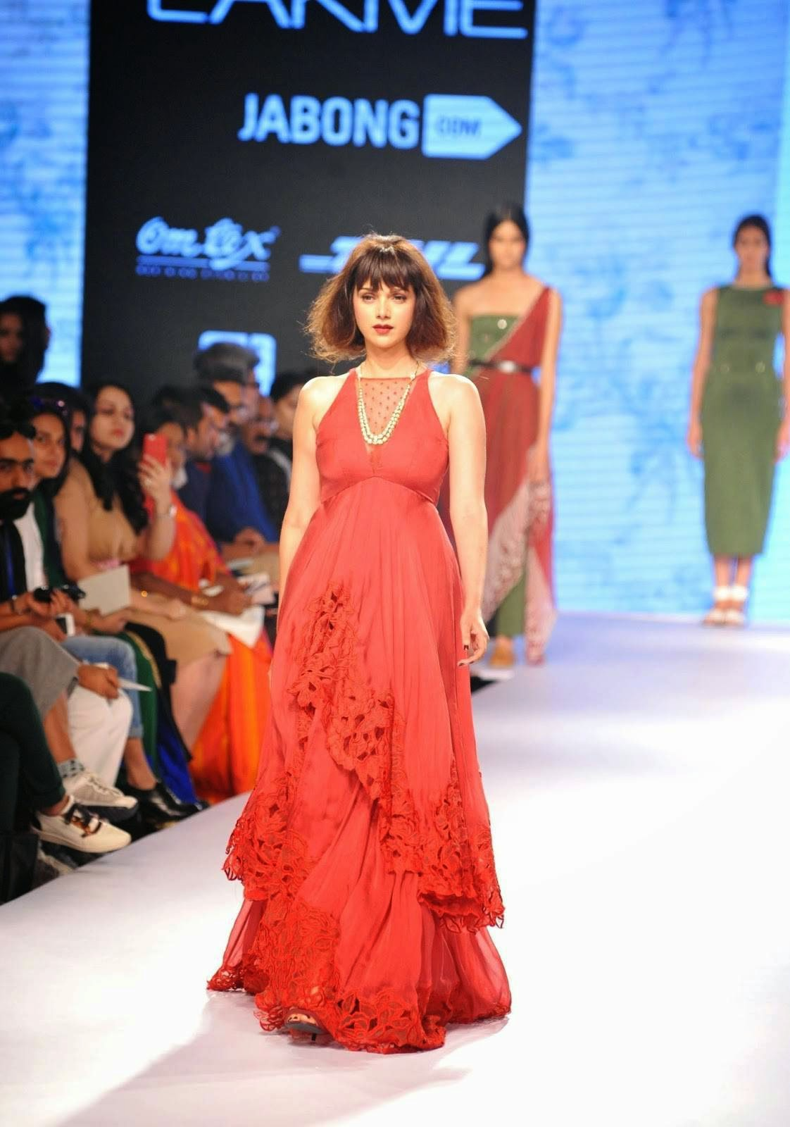 Aditi Rao Hyadri At Lakme Fashion Week 2015 Stills