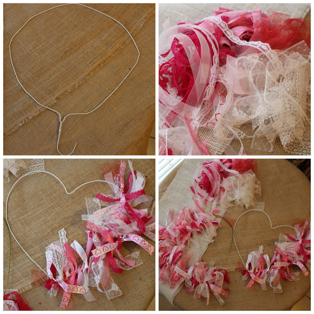 http://diy180site.blogspot.com / Happy Valentine's Day rag wreath