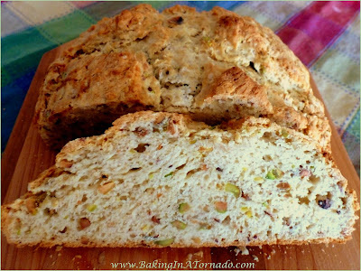 Pistachio Soda Bread | Recipe developed by www.BakingInATornado.com | #dinner #StPatricksDay