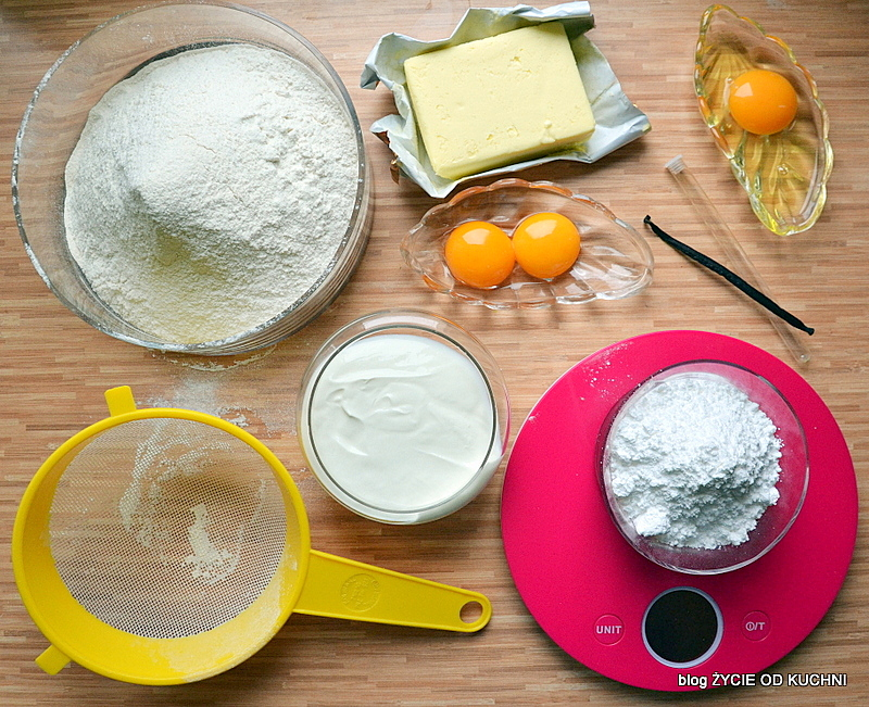 szarlotka, kruche ciasto, skladniki na kruche ciasto, domowe ciasto, zycie od kuchni