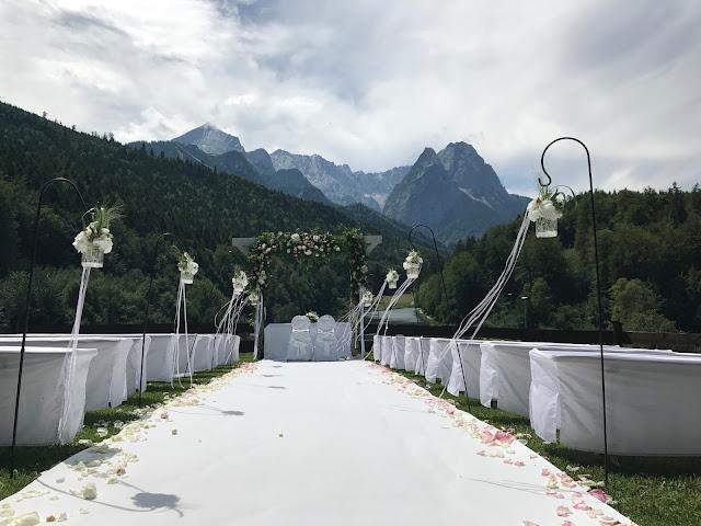 Berghochzeit unter freiem Himmel, 4 Hochzeiten und eine Traumreise 2.0 im Riessersee Hotel Garmisch-Partenkirchen, Traumlocation am See in den Bergen, 2017