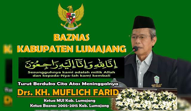 Ucapan duka dari Baznas dan Sekretaris Baznas Lumajang H. Atok Hasan