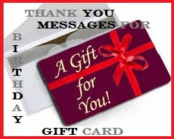 Thank You Messages Thank You Messages For Birthday Gift Card