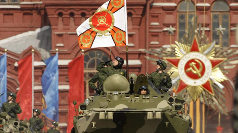 Un soldat de l'armée russe lors d'un défilé sur la Place Rouge de Moscou (photographie d'illustration)