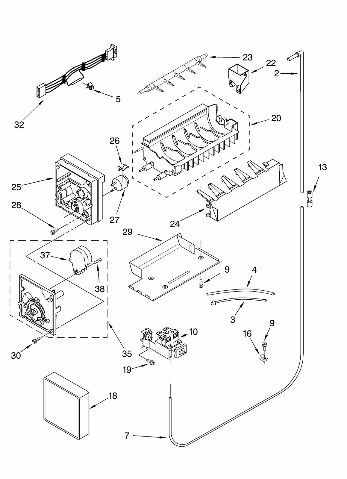 wireing diagram ice maker whirlpool