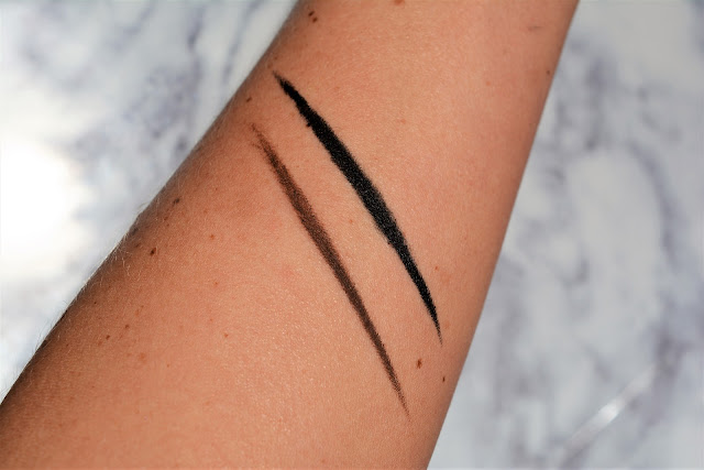 "Esqido | Gel Eyeliner Swatches in ""Brown"" & ""Black"""