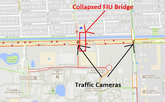 FIU Bridge Collapse Traffic Camera Video