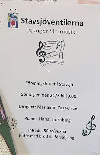 Stavsjöventilerna sjunger filmmusik