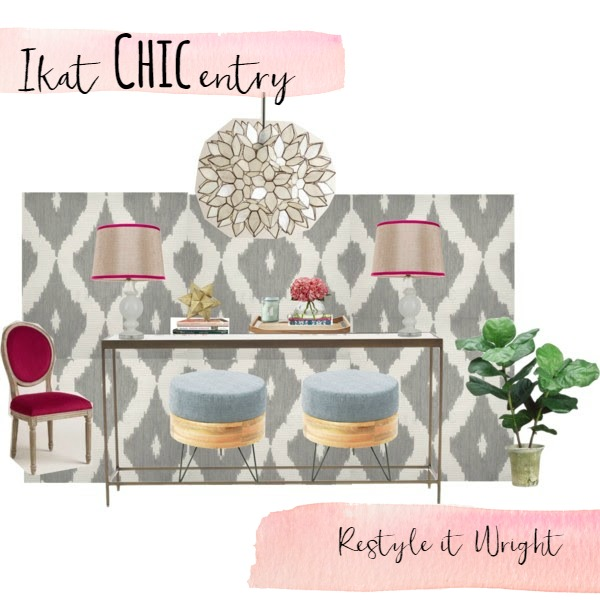 ikat entry sherwin williams exuberant pink