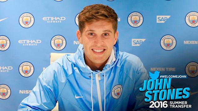 Resmi: John Stones Gabung ke Manchester City