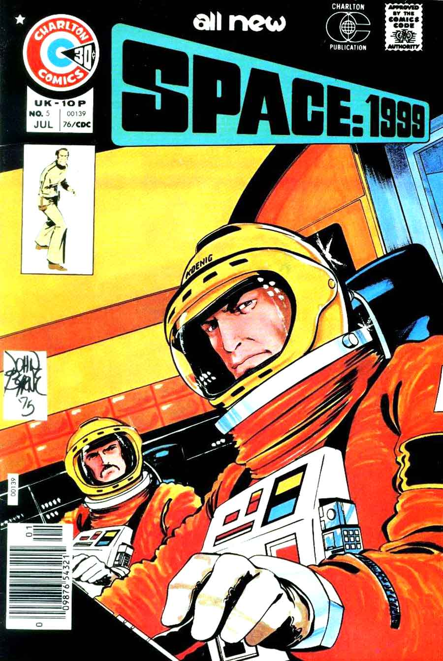 Space 1999 v1 #5 chalrton bronze age comic book cover art by John Byrne