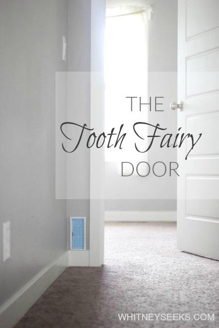Blue tooth fairy door