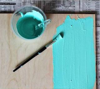 Cara Membuat Kerajinan Tangan Yang Mudah Dari Kayu, Membuat Papan Tulis Warna-warni 3