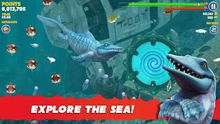 تحميل لعبة hungry shark مهكرة للاندرويد