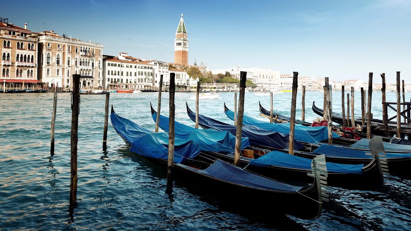 Gondolas Venice Mystery Wallpaper