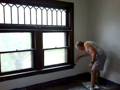 painting around wood trim
