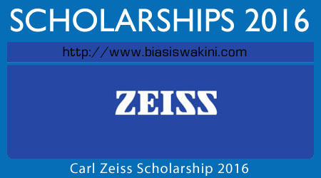 Carl Zeiss Scholarship 2016