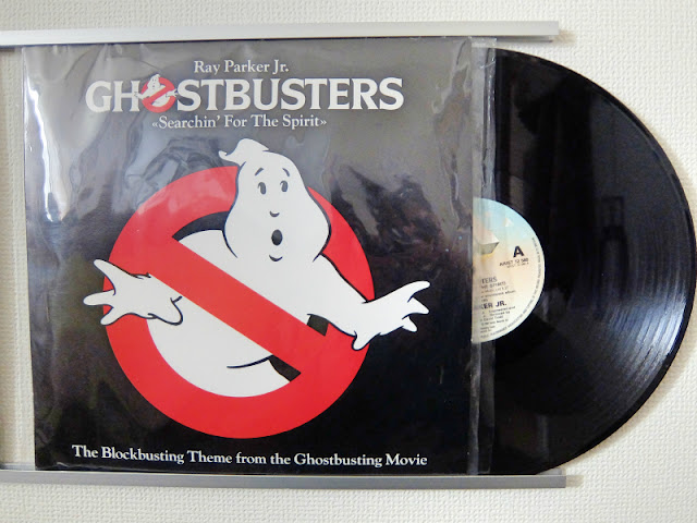 Ghostbustersのレコードの写真です。