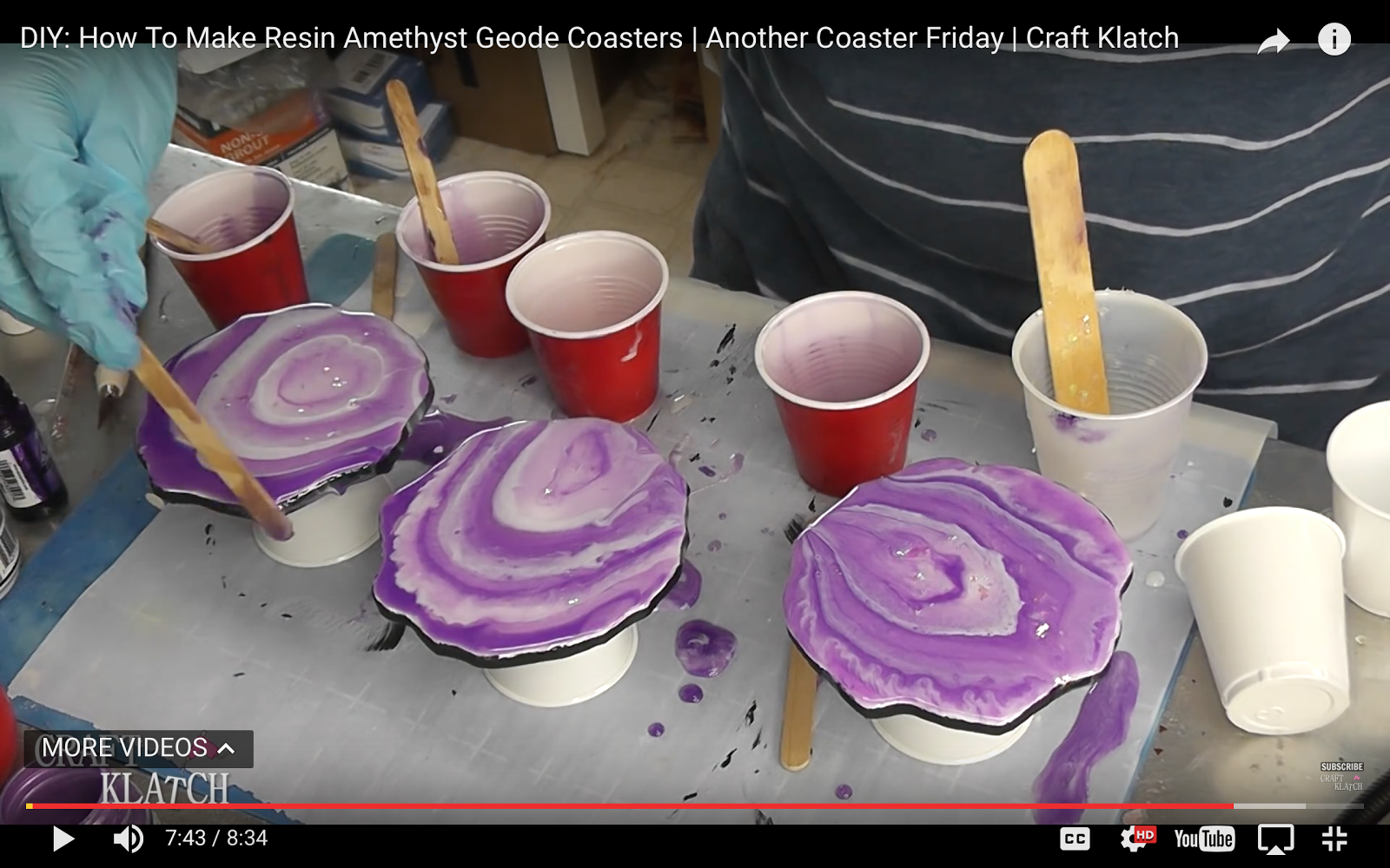 Craft Klatch ®: DIY: How To Make Resin Geode Coasters