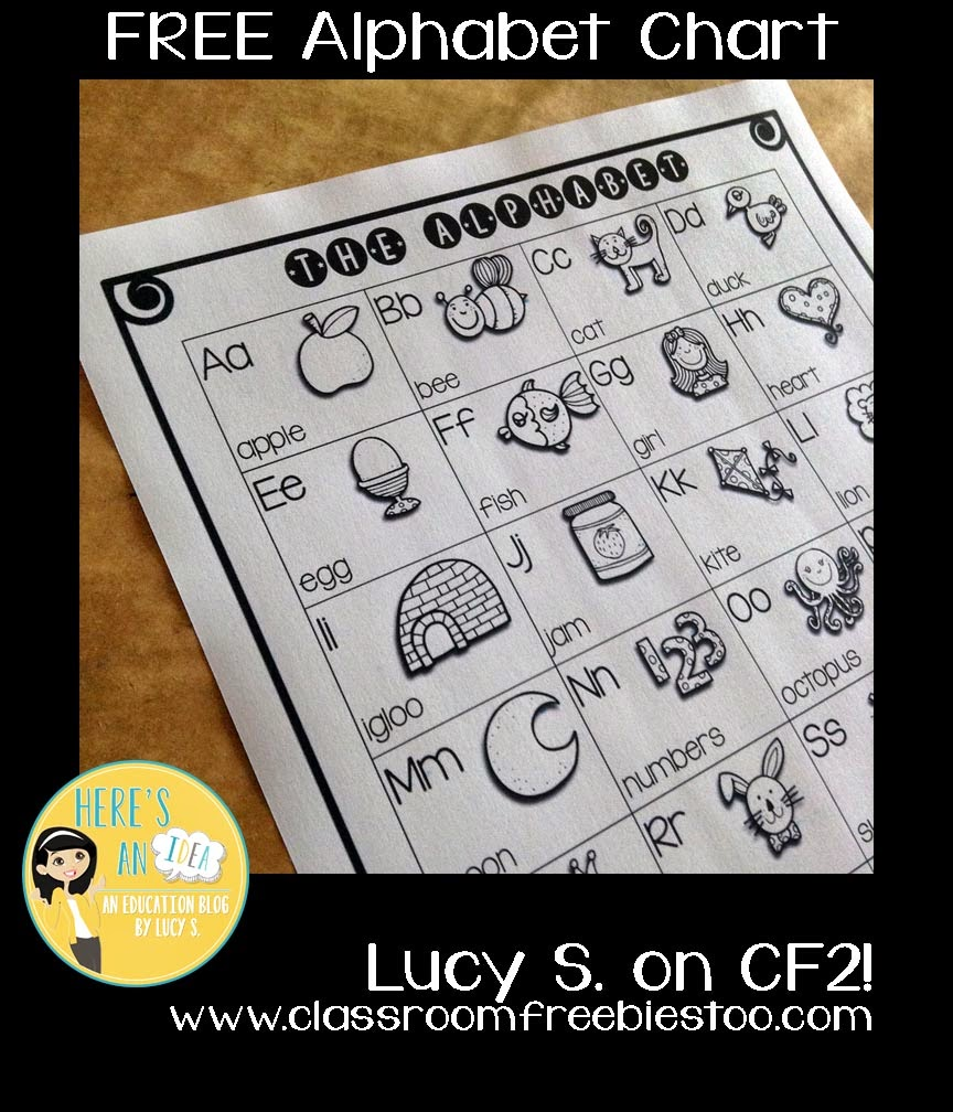 Free Alphabet Chart by Lucy S.