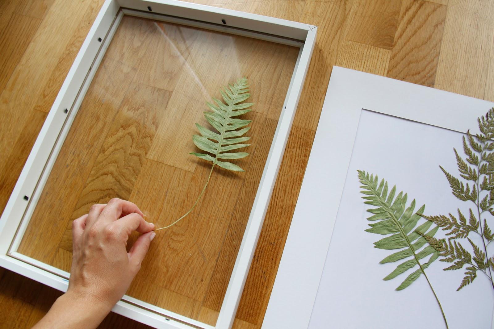 DIY hojas secas para enmarcar Handbox Craft Lovers Comunidad