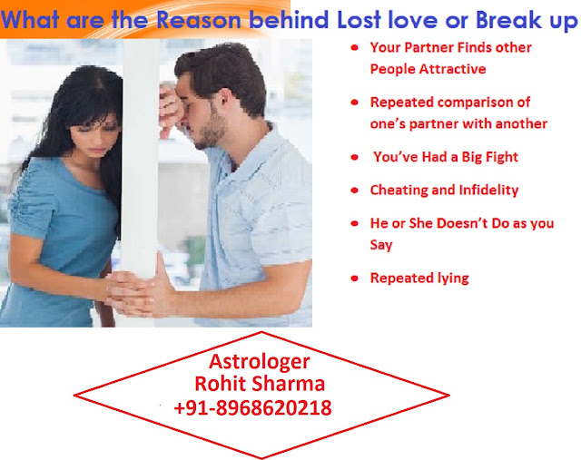 what are the reason behind lost love or break up