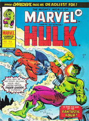 Mighty World of Marvel #154, Hulk vs Tiger Shark