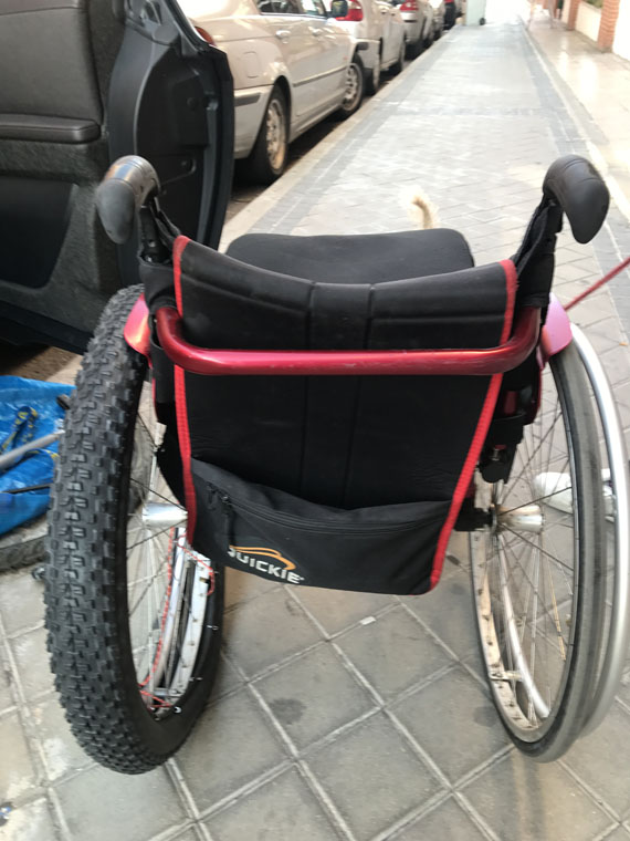 adaptar silla de ruedas a bicicleta