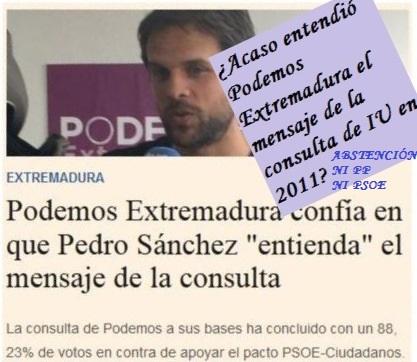 IU siguió a sus bases, Podemos apoyó a Vara