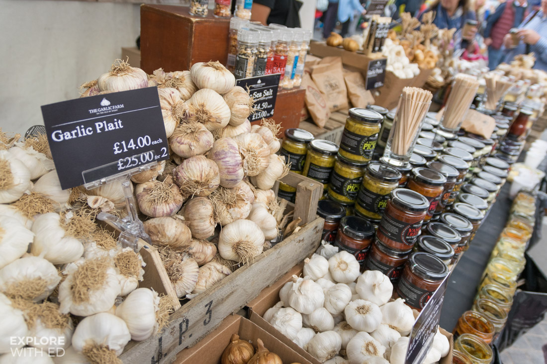The Garlic Farm Isle of Wight Food Stall
