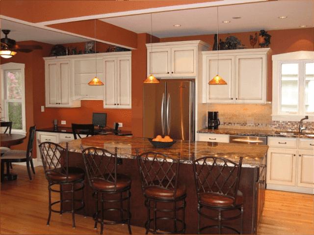 Cocinas con paredes color naranja colores en casa - Colores paredes cocina ...