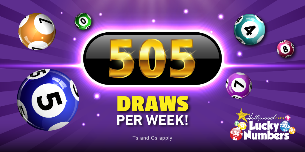505 Lucky Numbers Draws per week at Hollywoodbets