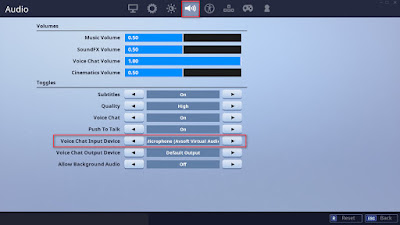 How to connect voice changer Fortnite