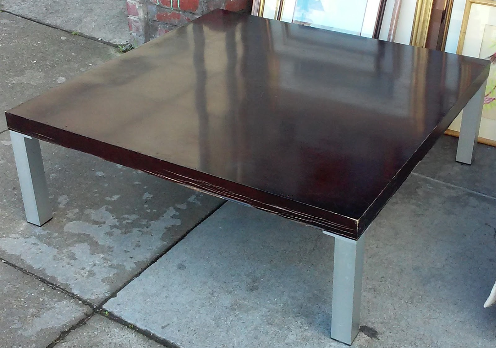 Uhuru Furniture Collectibles Sold 40 Square Modern Coffee Table 1