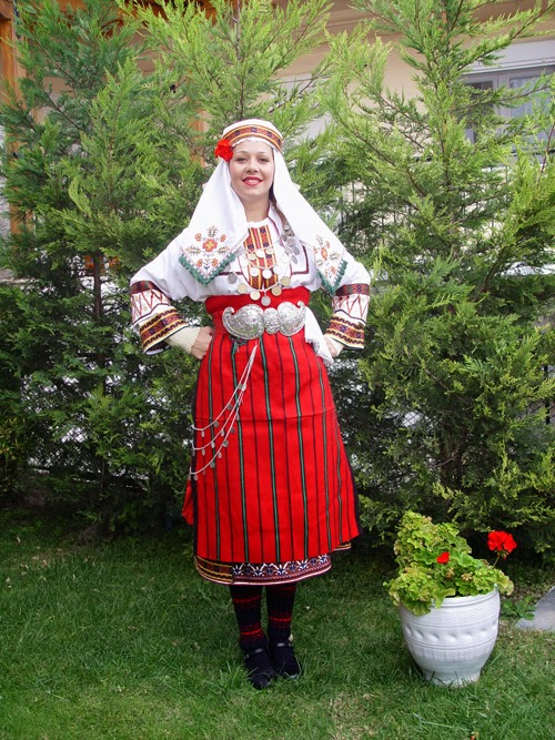 Bride from Makedonia in traditional costume