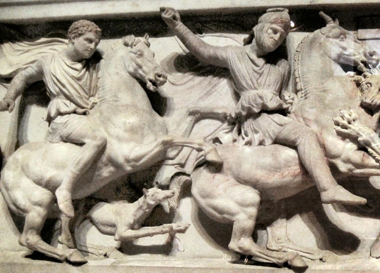 Αποτέλεσμα εικόνας για Απεικόνιση Μ. Αλεξάνδρου με τον σκύλο του Περίτα